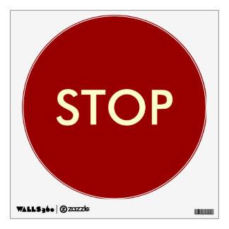 Stop Sign--Temporary Reusable Wall Sticker