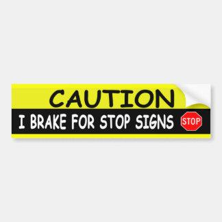 STOP SIGNS CAR BUMPER STICKER