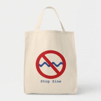 Stop Sine Tote Bag
