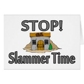 Stop Slammer Time Card
