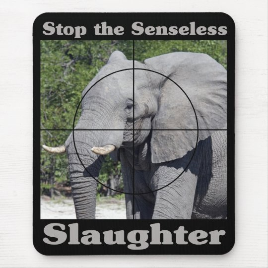 Stop Slaughter-Elephant Mouse Pad