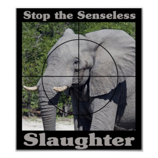 Stop Slaughter-Elephant Poster