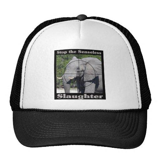 Stop Slaughter-Elephant Trucker Hats