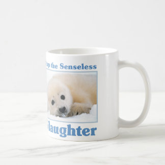 Stop slaughter-seals classic white coffee mug
