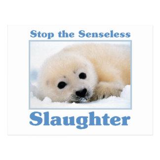 Stop slaughter-seals postcard