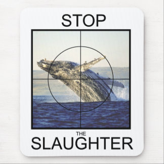 Stop Slaughter-whales Mousepad