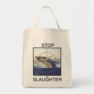 Stop Slaughter-whales Tote Bag