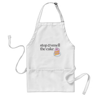 Stop & Smell the Cake Adult Apron