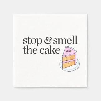 Stop & Smell the Cake Standard Cocktail Napkin