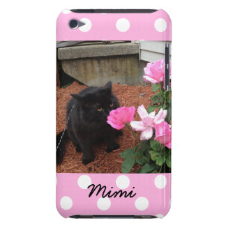 Stop & Smell the Roses, Black Cat, Customizable iPod Case-Mate Case