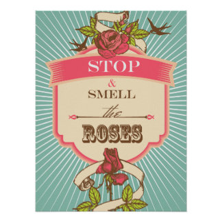 Stop & Smell the Roses Pop Inspirational Poster