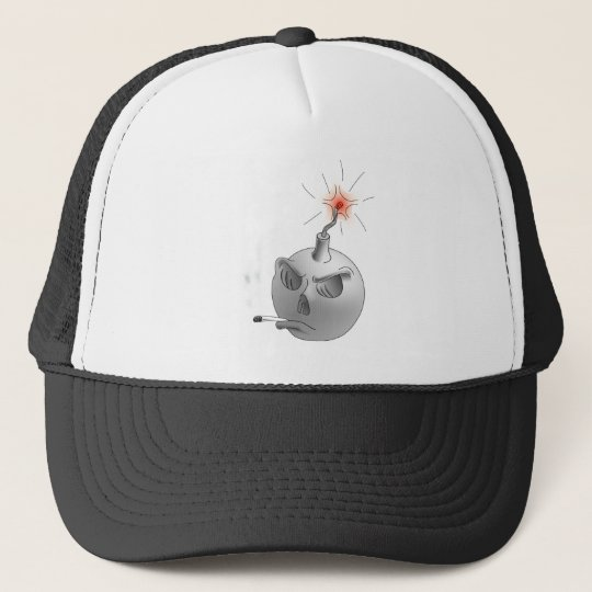 Stop Smoking and bomb Trucker Hat