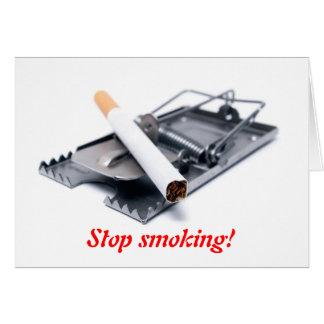 Stop smoking! card
