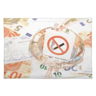 Stop smoking cloth placemat