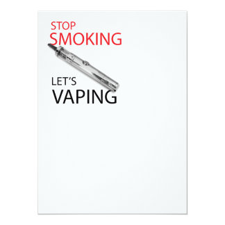 """Stop smoking 5.5"""" x 7.5"""" invitation card"""
