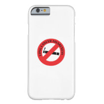 Stop Smoking Lung Cancer Awareness Barely There iPhone 6 Case