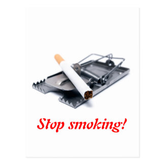 Stop smoking! postcard