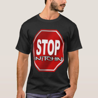 Stop Snitchin Black T-Shirt
