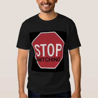 Stop Snitching BLCK T Shirt