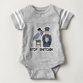 stop snitching pigeon baby bodysuit