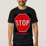 stop, SNITCHING T-shirt