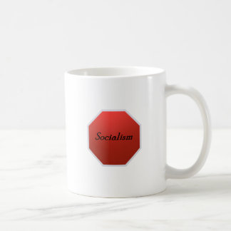 Stop Socialism Classic White Coffee Mug