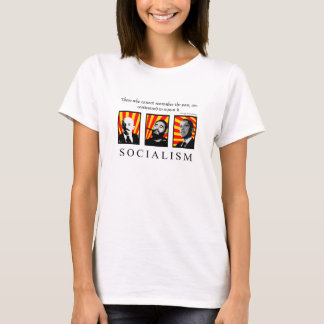 Stop Socialism revised white T-Shirt
