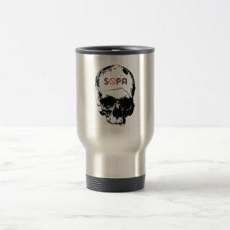 Stop SOPA 15 Oz Stainless Steel Travel Mug