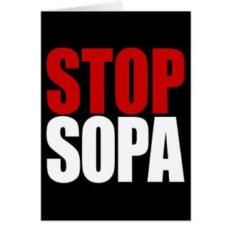 Stop SOPA Card