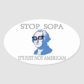 Stop SOPA It's Just Not American Stickers