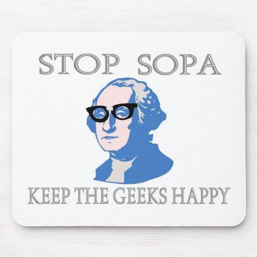 Stop SOPA Keep The Geeks Happy Mousepad