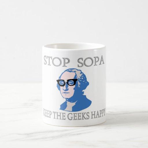 Stop SOPA Keep The Geeks Happy Mug