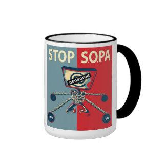 Stop SOPA Ringer Coffee Mug