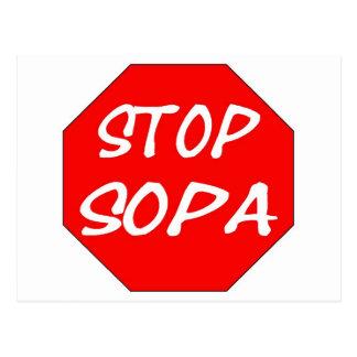 Stop SOPA Postcard