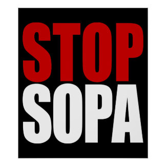 Stop SOPA Poster