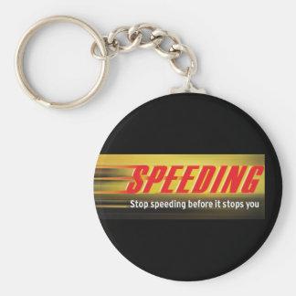 Stop Speeding Keychain