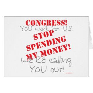 Stop Spending - Congress Card