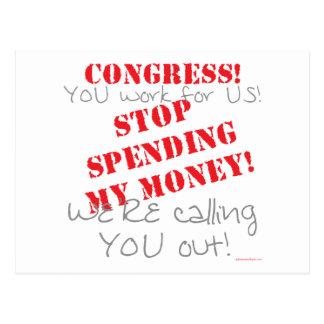 Stop Spending - Congress Postcard