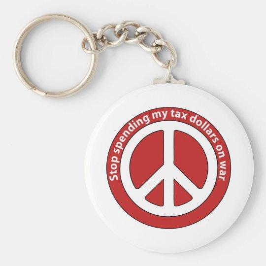 Stop Spending my Tax Dollars on War Keychain
