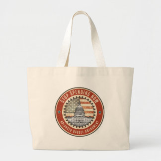 Stop Spending Now Tote Bags