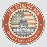 Stop Spending Now Classic Round Sticker