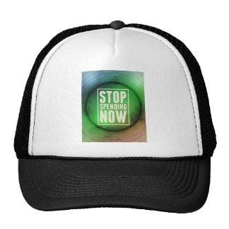 Stop Spending Now Mesh Hat