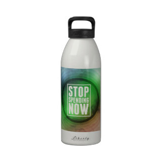 Stop Spending Now Water Bottle