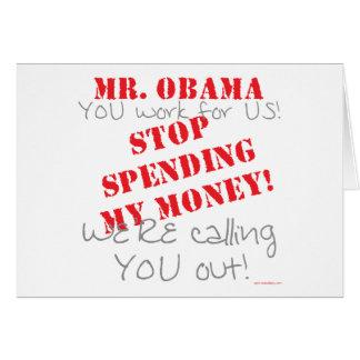 Stop Spending - Obama Card