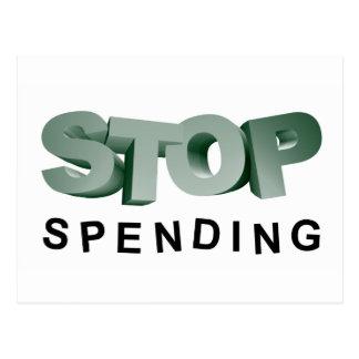 Stop Spending Postcard