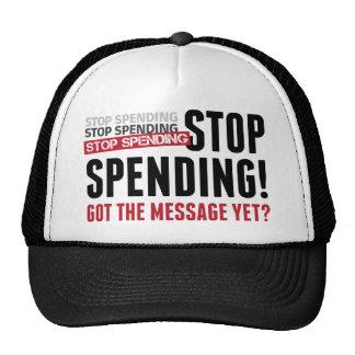 Stop Spending. Stop Spending. Stop Spending! Trucker Hat