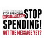 Stop Spending. Stop Spending. Stop Spending! Post Card