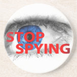 Stop Spying Beverage Coaster
