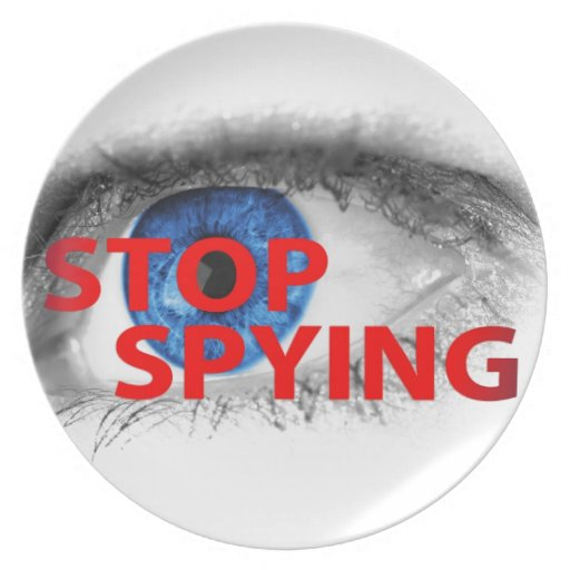 Stop Spying Dinner Plates