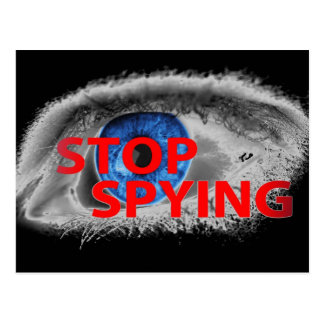 Stop Spying Postcard